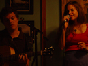 Emrys and Sophia performing live at Bogart's Cafe, Long Beach, CA